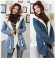 2 Pcs Set New Autumn Thick Lambs Wool Denim Jacket Winter Female Coats Plus Size Slim Jeans Jacket Long Coat Women S-2XL