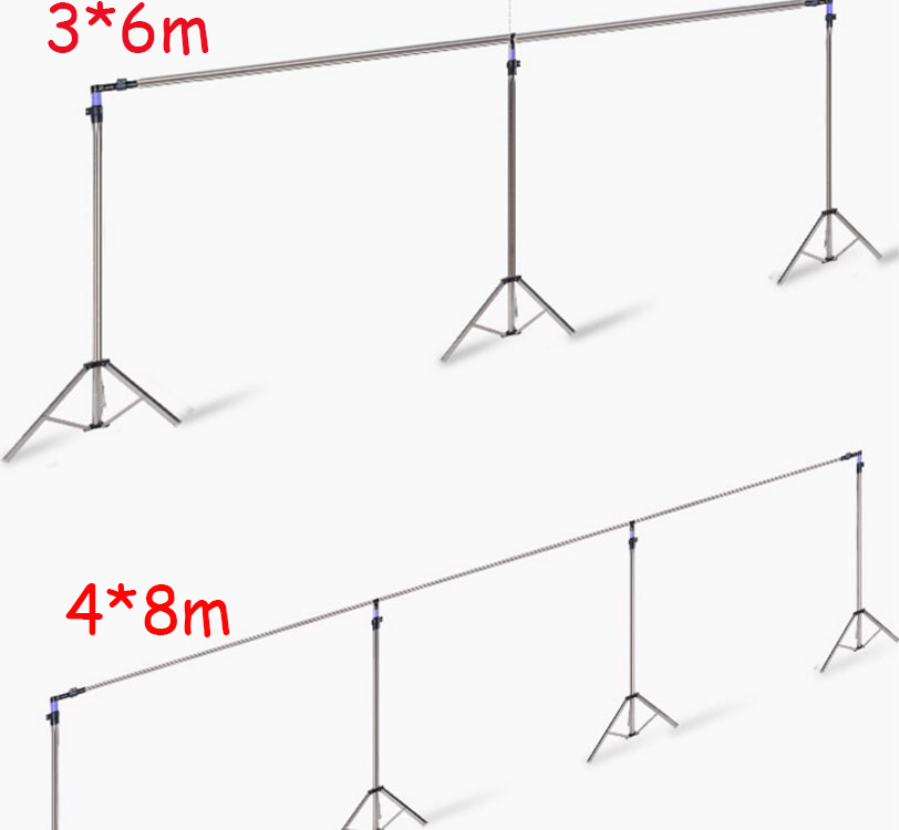 Adjustable Wedding&Banquet Background Decoration 3*3M /3*6M /4*8M Stainless Steel Pipe bracket wedding /Party Backdrop Stand