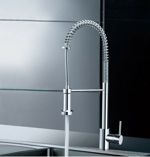 Factory Direct Sales!Best Price!100% Brand New Brass Spring Pull Out Kitchen Faucet.free Shipping.1pcs/lot