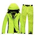 2016 hombres y mujeres trajes de esquí chaqueta de esquí Rossignol + pantalones conjunto sportwear unisex al aire libre impermeable de esquí de invierno de nieve escudo