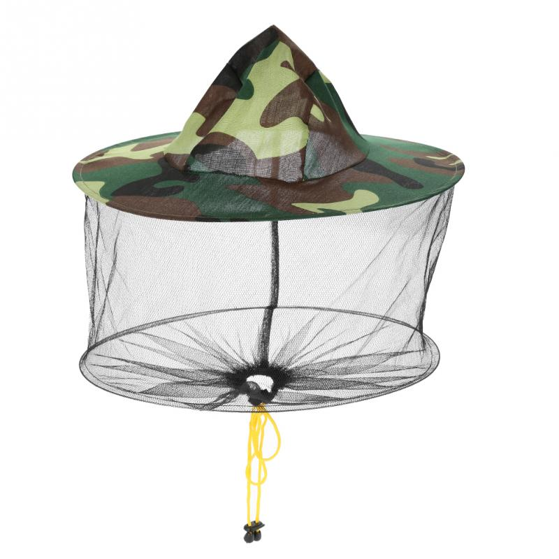 Beekeeping Tools Hot Sale Head Face Protector Beekeeping Hat Fly Bug Insect Bee Hat With Net Mesh Camouflage Fishing Hat Mosquito Cap Neck Beneficial To The Sperm