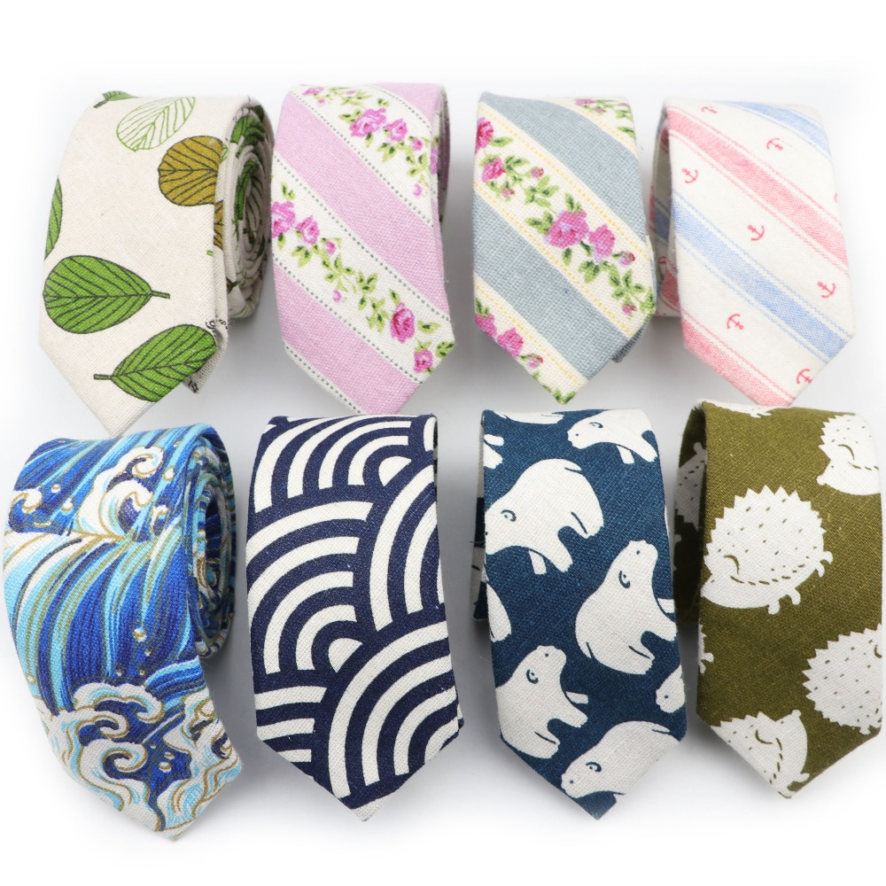 New Style Informal Tie Cotton Linen Necktie Men's Fashion Neckties Designer Handmade Ties High Quality