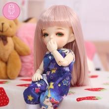 Парик для куклы bjd L8# Размер 4,5-6 дюймов 1/8 высокая температура натуральный прямой парик длинные волосы куклы bjd парики в Красота