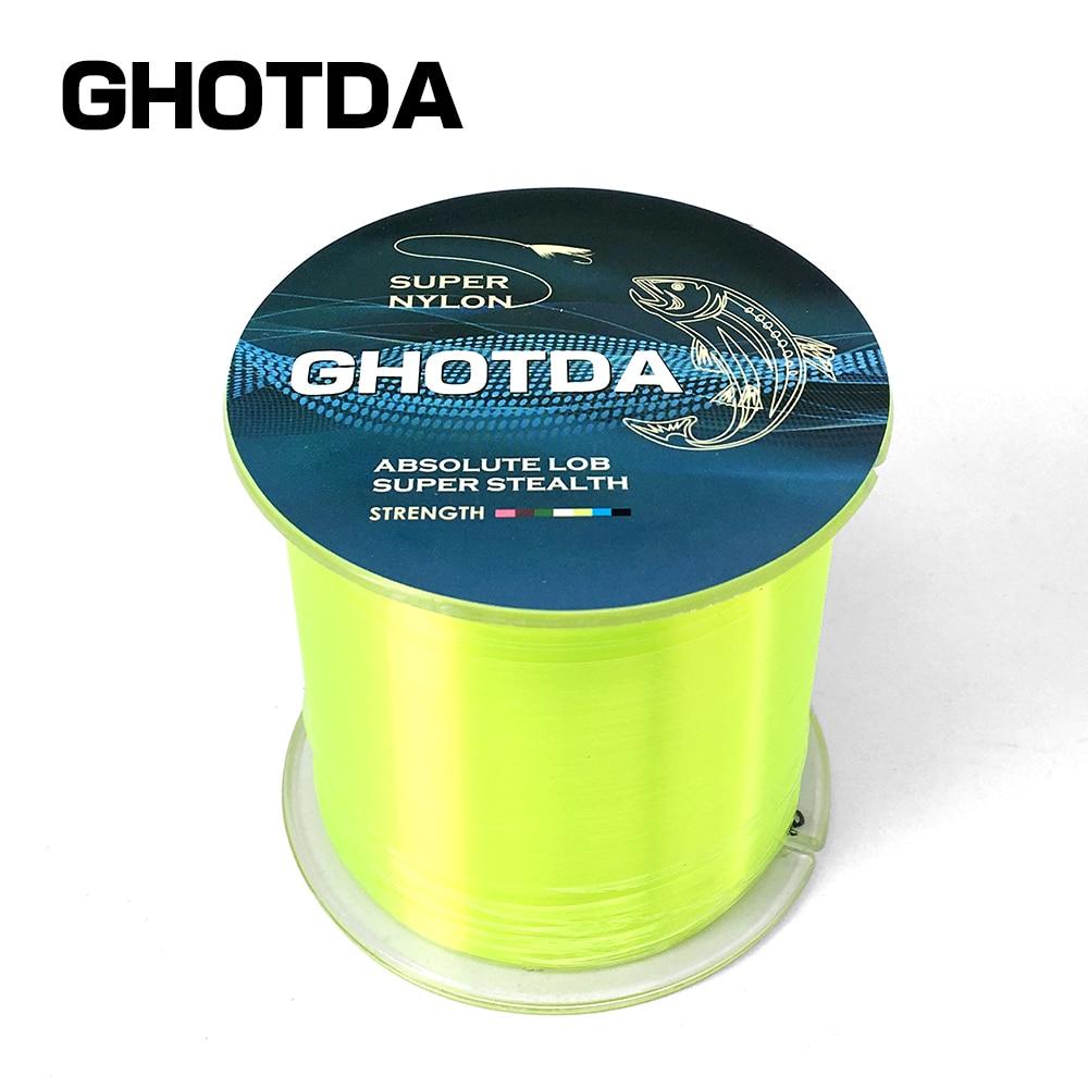GHOTDA 2PCS Strong Nylon Fishing Line 500M Monofilament Line Japan ...