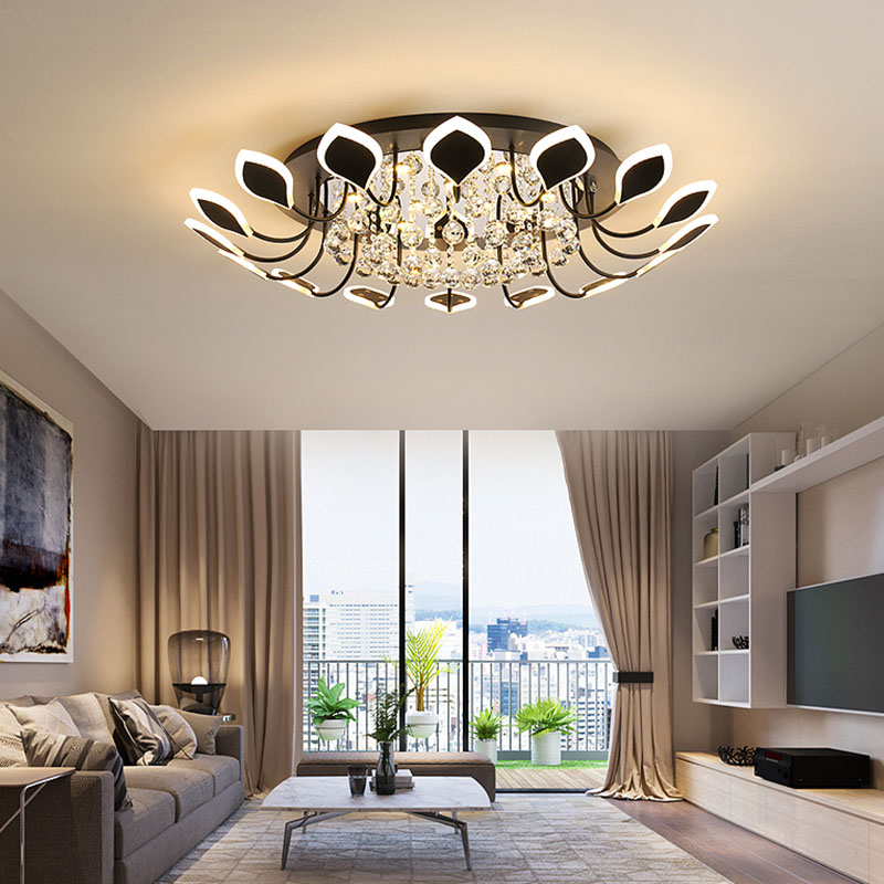 LED Chandelier K9 Crystal Modern Luxury home lighting Living Room Bedroom lamp Decoration Pendants indoor Lights Free shipping