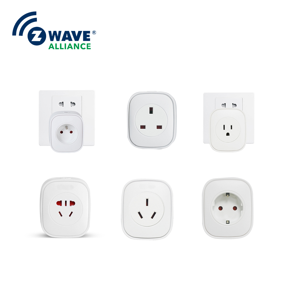 Zwave Smart Home Automation Solution Smart Metering Plug wall socket home security alexa compatible surge protection zigbee home automation solution smart metering plug