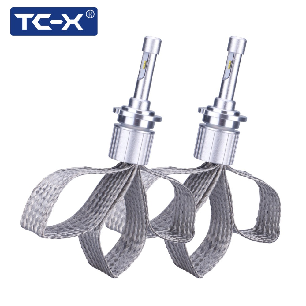 Tc X 7000lm Set D2s D4s Led Headlights Clear Curve For Bmw Model Hid Replace Car Lights With