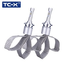 TC-X 7000LM/Set D2S D4S LED Headlights Clear Curve for BMW model HID Replace Car Lights with Flexible Tinned Copper Braid