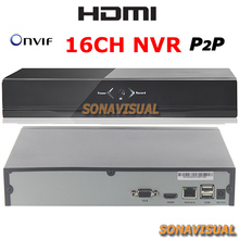 NEW 16CH NVR Support Realtime Video Playback IP Camera Recorder 8ch 960P/16ch 720P/16ch HDMI Onvif P2P Motion Detect NVR Record