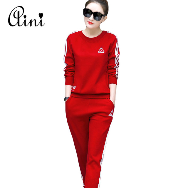 High Quality Women Tracksuits Sporting Suits Women Fitness Sportwear Suit Clothing 2 Piece Set wear 2017 Tracksuit Plus Size 2XL