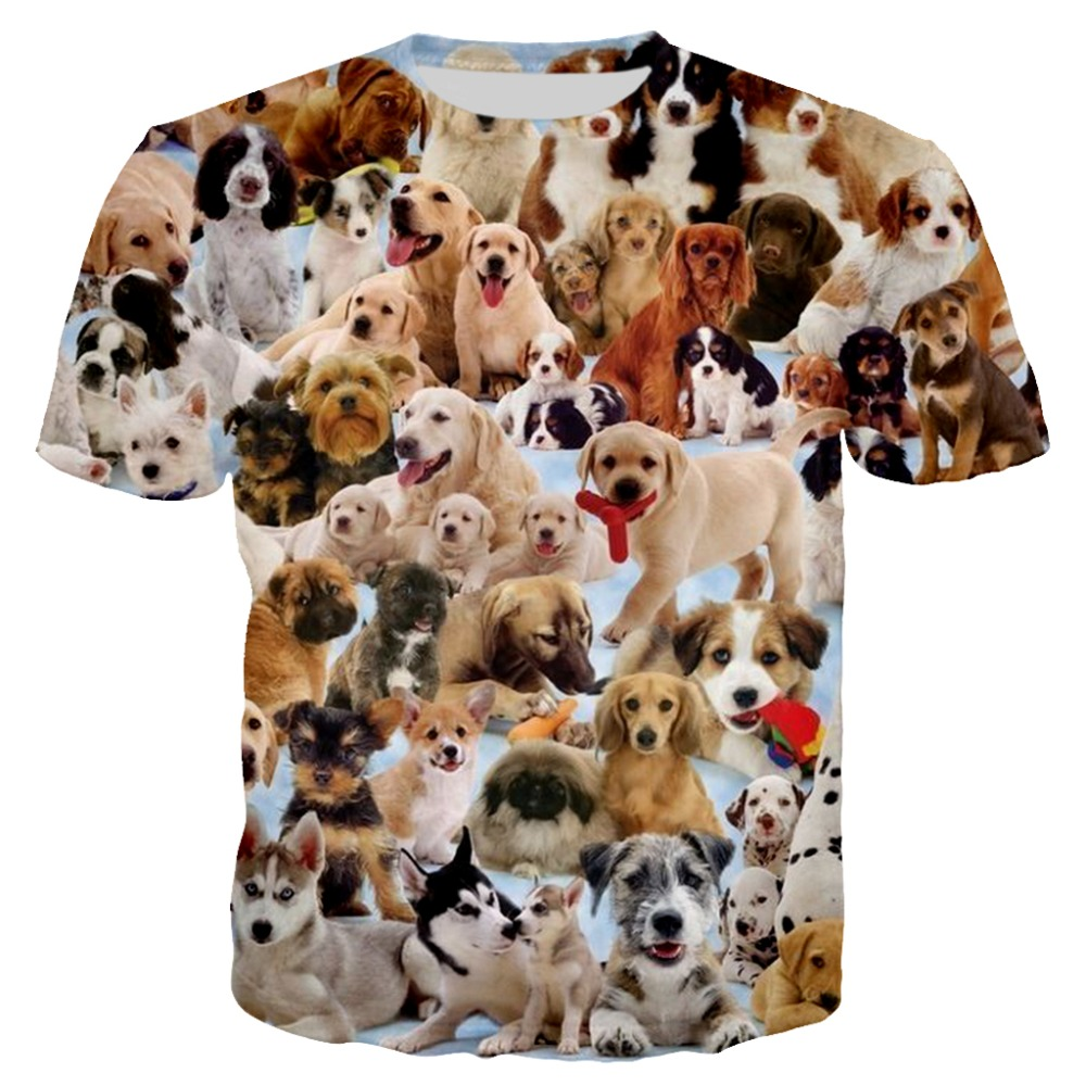 New Arrival People Love Dogs 3D Printed T <font><b>Shirt</b></font> <font><b>Funny</b></font> Short Sleeve T-<font><b>shirt</b></font> Men Fashion <font><b>Cute</b></font> Animal Outwear tee <font><b>shirts</b></font> tops image