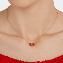 Best lady Cute Red Lip Collar Choker Necklace Pendants for Women Girls Brand Design Wedding Party Statement Necklaces Jewelry(China)