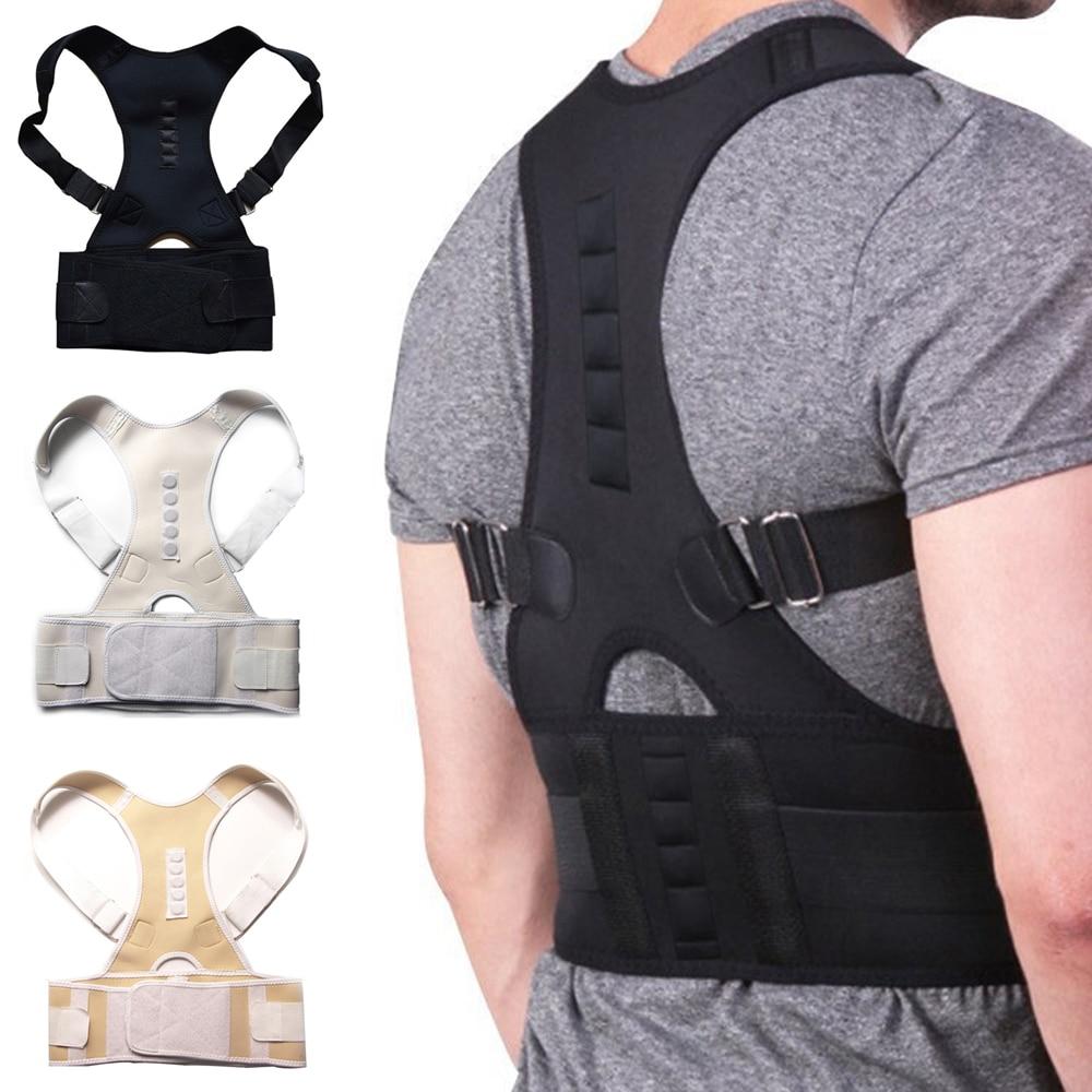 Neoprene Magnetic Back Shoulder Brace Posture Corrector Support Back Support Belt Correction Correcter Posture Scoliosis Unisex