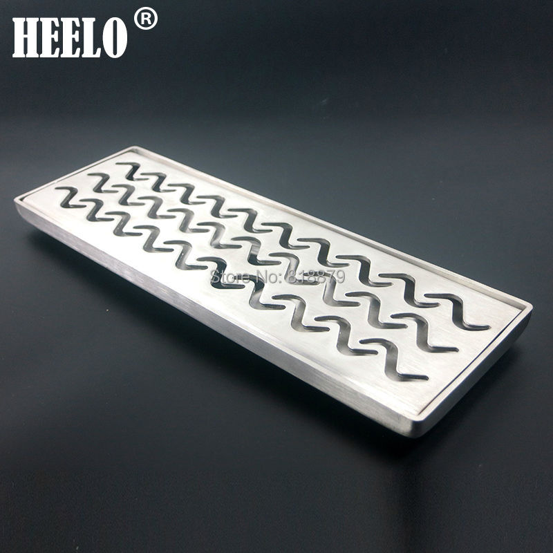 304 stainless steel Long Bathroom water trap anti-odor deodorization type floor drain 30*10cm stainless steel hand palm odor remover lasts forever