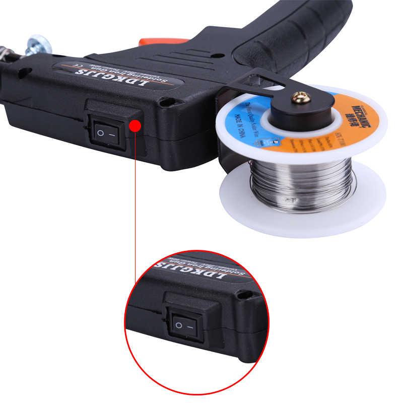110 V/220 V 60W باليد الكهربائية سبيكة لحام التدفئة الداخلية بندقية لحام Solda تلقائيا إرسال القصدير بغا أدوات لحام