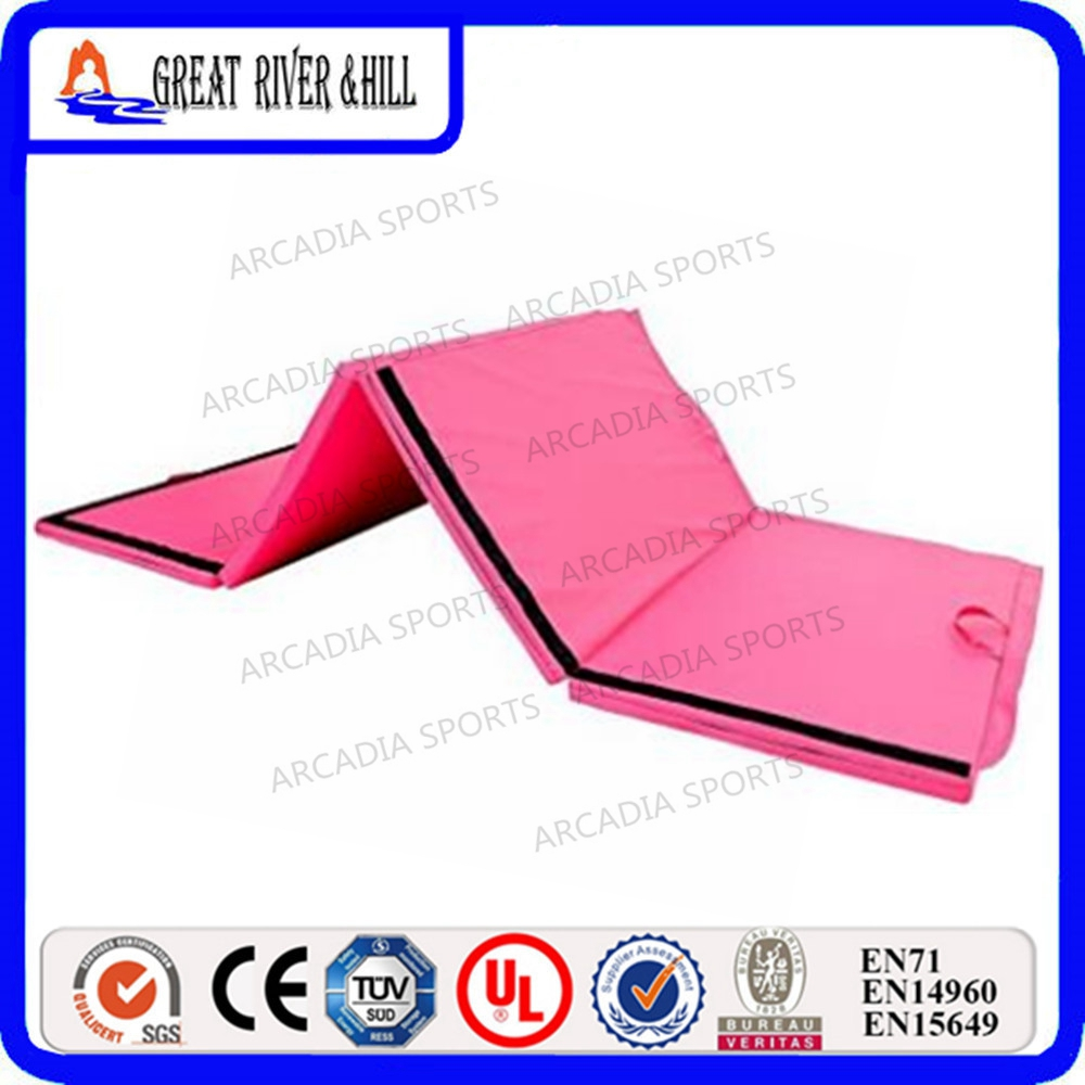 High Density Foam Core Gymnastics Tumbling Exercise Mat 2.4mx1.2mx5cm gymnastics mat thick four folding panel fitness exercise 2 4mx1 2mx3cm