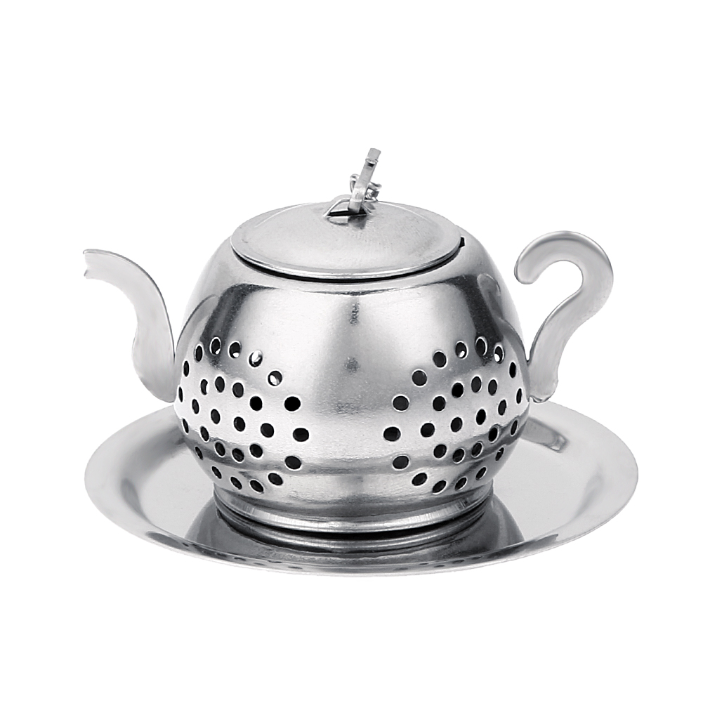 Tea Infuser Stainless Steel Teapot Tray Spice Tea Strainer Herbal Mesh Filter Teaware Accessories Kitchen Tools