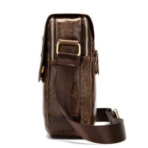 Image 3 - MVA hommes en cuir véritable sac sacs à bandoulière pour hommes sac de messager hommes en cuir de mode hommes sacs à bandoulière hommes sacs à main 1121