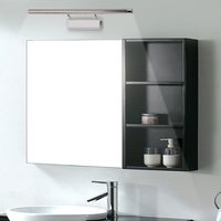 11W LED Mirror Lamp Stainless Steel 180 Degree Rotatable Waterproof Practical For Bathroom Bedroom Cabinet With Switch