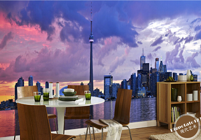 Custom Photo Wallpaper Sky Toronto City Scenic Horizon For The Living Room Bedroom TV Background Wall Papel De Parede In Wallpapers From Home Improvement