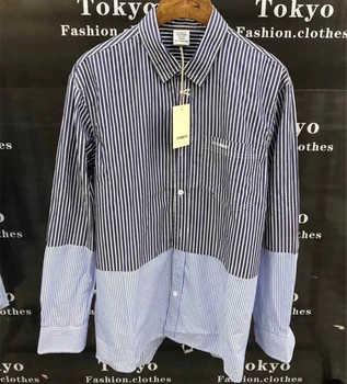 Best Quality Vetements Shirts Blue White Striped Vetements Shirt Oversize Men Women 1:1 Loose Vetements Embroidery Shirt фото