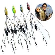 цена на 21.5cm18g Umbrella Fishing lure Rig 5 Arms Alabama Rig Head Swimming Bait Bass With Swivel Snap Connector Spoon Minnow Fishinng
