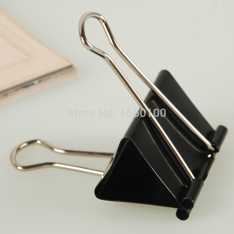 Free Shipping (24pcs/pack)32mm Black Paper Clip Metal