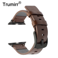 Italian Genuine Leather Watchband Adapter For IWatch Apple Watch 38mm 42mm Series 1 2 3 Band