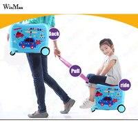 Аниме стерео студент Детский чемодан на колесиках милые детский чемодан для путешествий для мальчиков и девочек мультфильм рюкзак