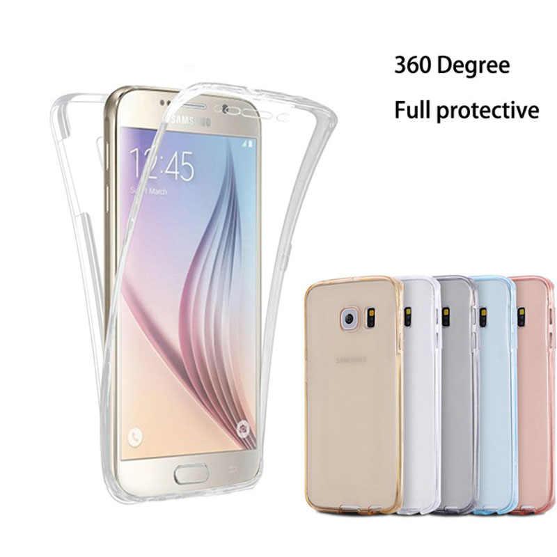 Claro teléfono funda para Samsung Galaxy Note9 8 A6 A8 más J6 J4 J8 2018 A3 A5 A7 J5 J7 2016 2017 Neo primer de la cubierta completa