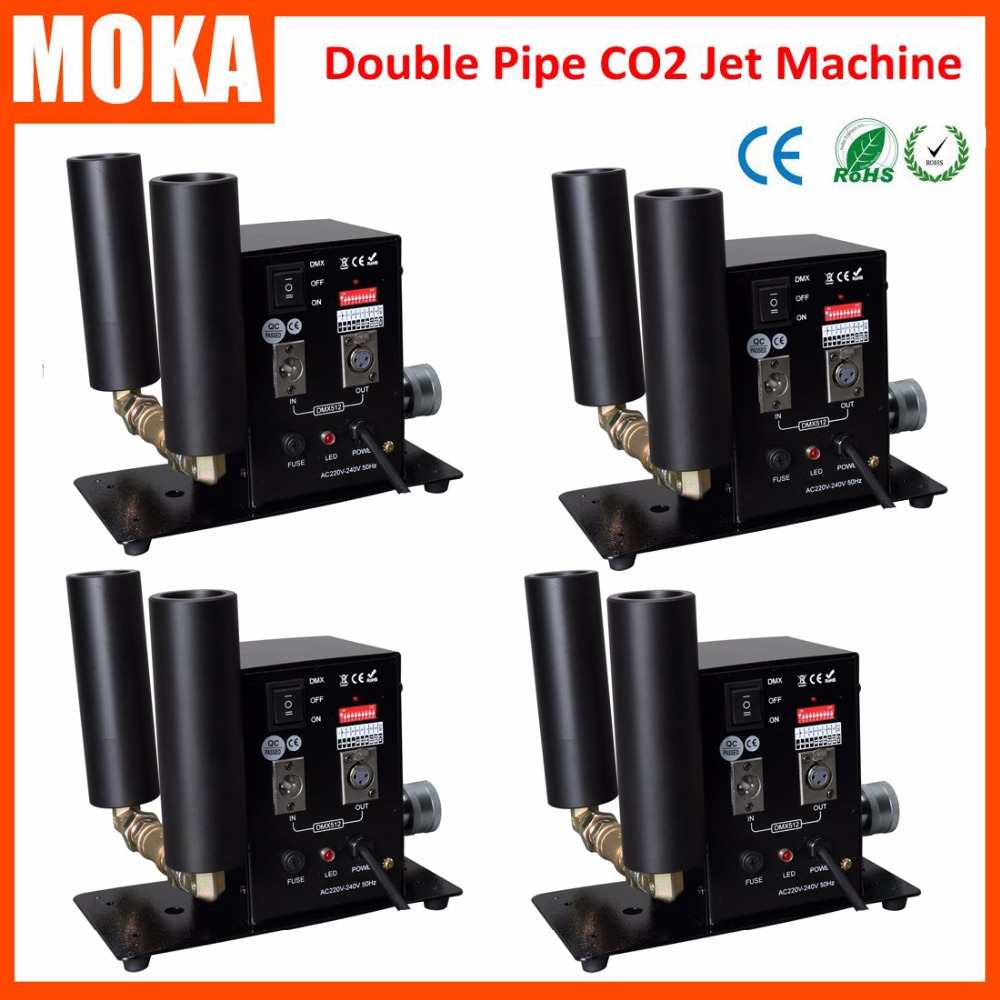 MOKA 4 piece Speical Stage 2 Tube Cryo CO2 Jet Cannon DJ Stage CO2 Jet Machine for CO2 stage effects IN STOCKMOKA 4 piece Speical Stage 2 Tube Cryo CO2 Jet Cannon DJ Stage CO2 Jet Machine for CO2 stage effects IN STOCK