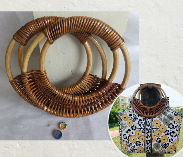 Round Rattan 2016 Purse Handle Bag Handle DIY Bag Hanger Wooden Bamboo Plastic Purse Frame 2015