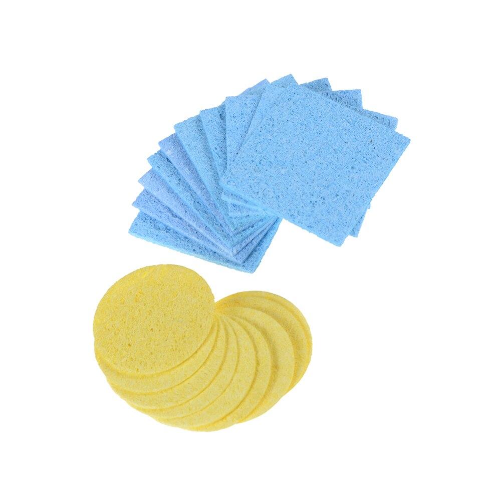 10pcs High Temperature Welding Sponge Soldering Iron Sponge Electric Welding Cleaner Cleaning Pads Cleaning Sponge