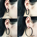 Ear clip Non pierced hole Fashion Earrings On both sides of the ear clip female painless cushion Black 30mm-60mm Pop ear jewelry