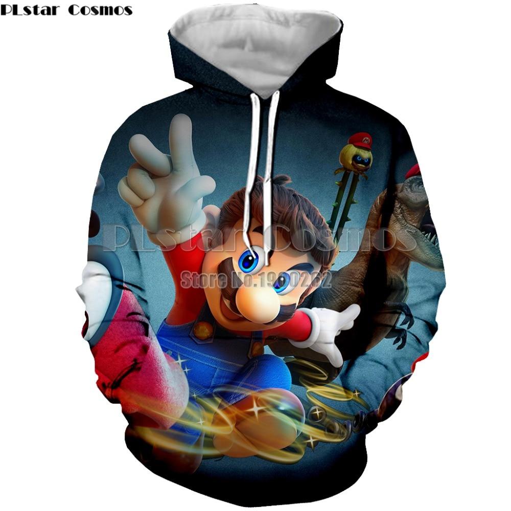 PLstar Cosmos Super Mario Cartoon Game Men Hoodies Sweatshirt Mens/women Long Sleeve 3d Print Plus size S-5XL ...