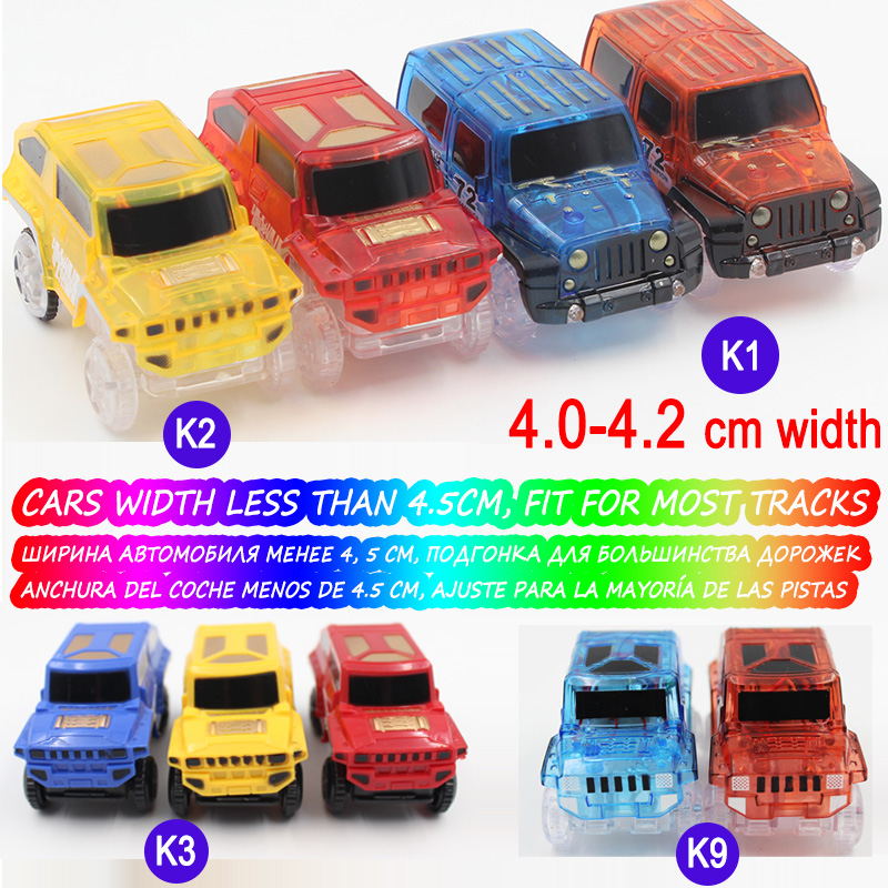 8-Styles-Electronics-Magic-Track-Cars-Led-Flashing-for-Glow-in-the-dark-Tracks-Toys-For-Kids-2