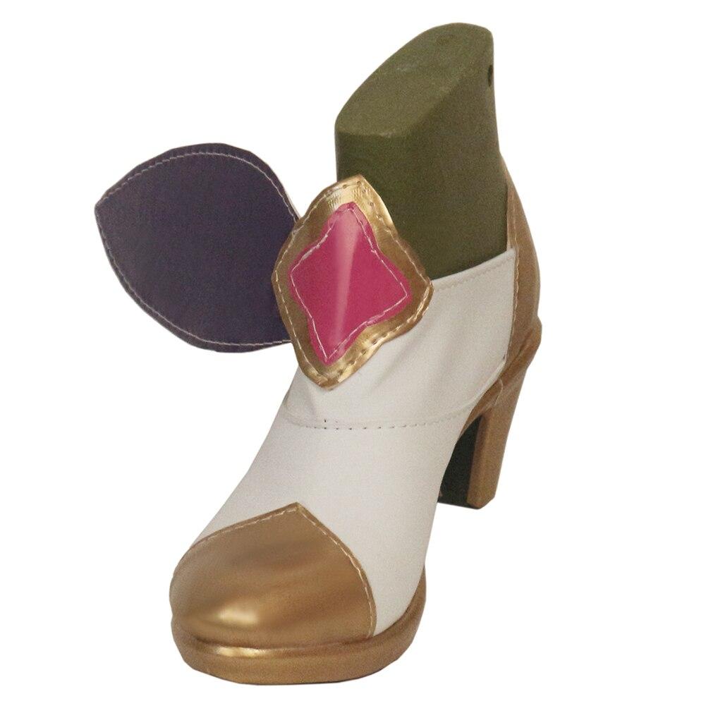 Fille magique brdwn gardien d'étoiles femme renard à neuf queue Ahri chasseur de primes Miss Fortune Cosplay nœud papillon costume chaussures à talons hauts
