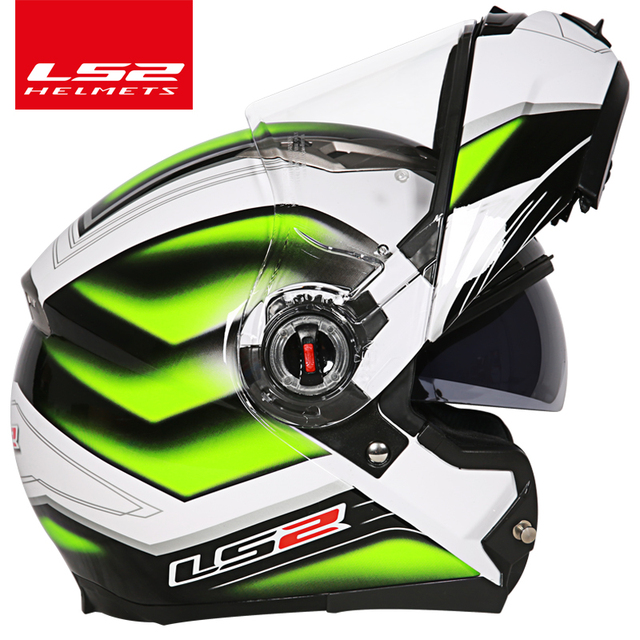 casco capacete LS2 ff370 flip up stomtrooper road bike moto helmet for motorcycle with sun shield lens 5