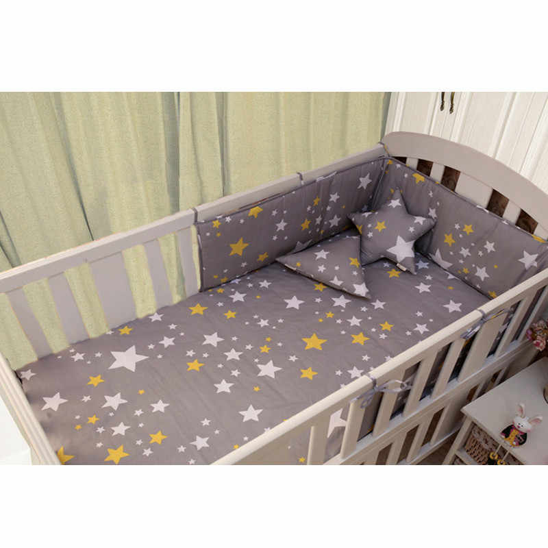 Bedding Se(1pcs bumper only)Fashion hot crib bumper infant bed,baby bed bumper clauds/star/dot/tree,safe protection for baby use