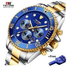 TEVISE Quartz Watches Men Waterproof Luxury Brand Watch Date Man Stianless Steel Mens Wrist Watch Male Clock erkek kol saati стоимость