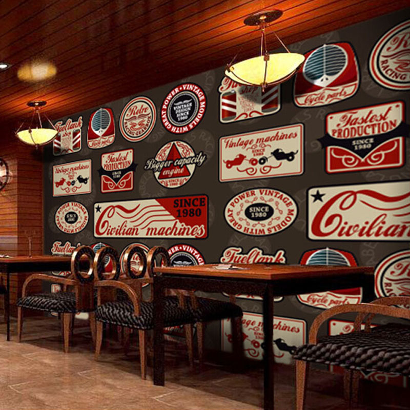 Bar Wallpaper: Wall Paper British Retro Style Tag Wallpaper Living Room