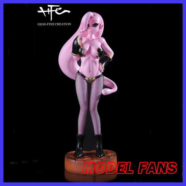 MODEL FANS instock Dragon Ball Z 23cm female version Majin Buu gk resin made bra can take off figure toy for Collection q version dragon ball z majin buu figure doll action figures toys great gift