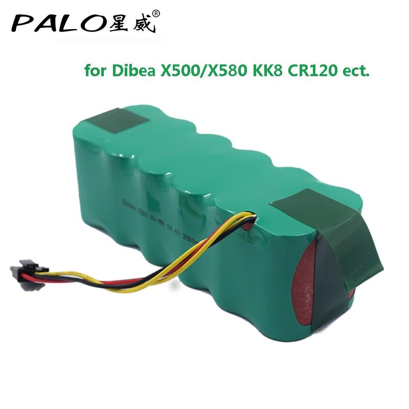 14.4 V Ni-MH 3500 mAh Batterie Aspirateur Robot Écologiquement Rechargeable Batterie Pack pour Dibea X500/X580 KK8 CR120 ect.