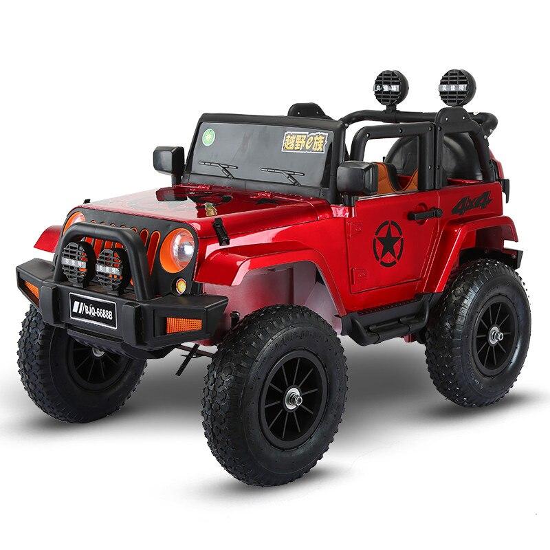 Quatre roues motrices enfants voitures électriques enfants voiture électrique monter sur 1-5 ans jouet tout-terrain véhicule avec 4 roues pneumatiques