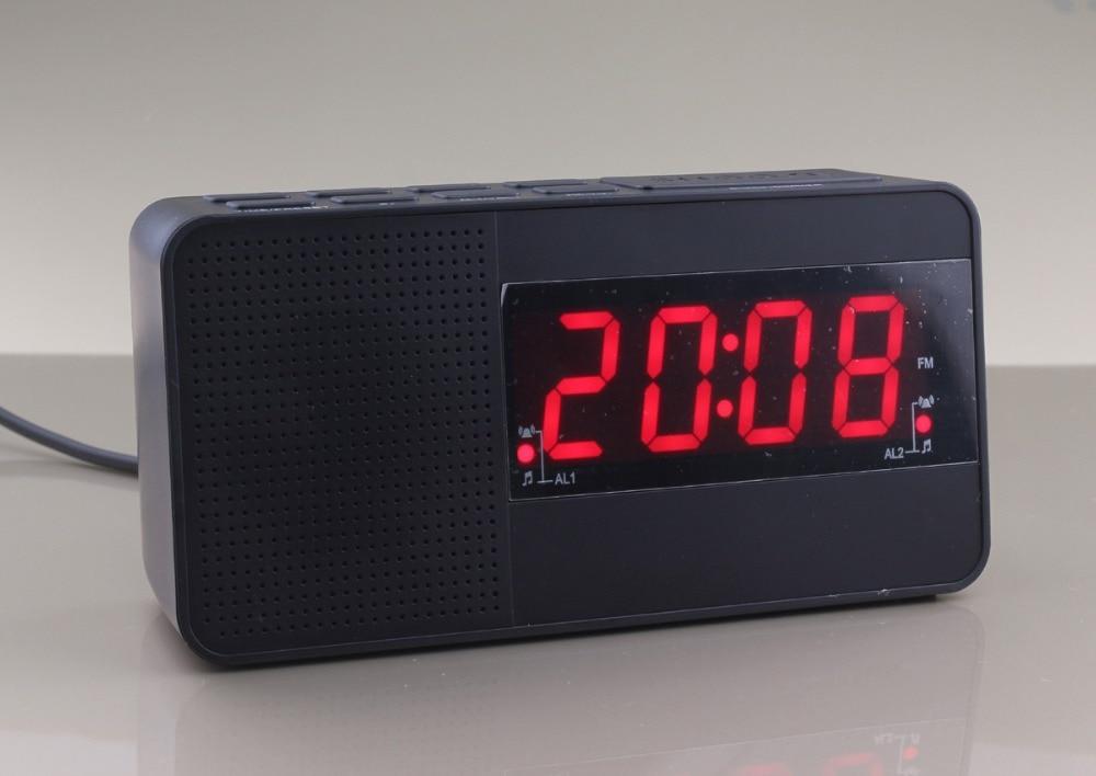 1 2 inch led clock digital alarm fm radio dual alarm clock input voltage 100 240v fit for any. Black Bedroom Furniture Sets. Home Design Ideas