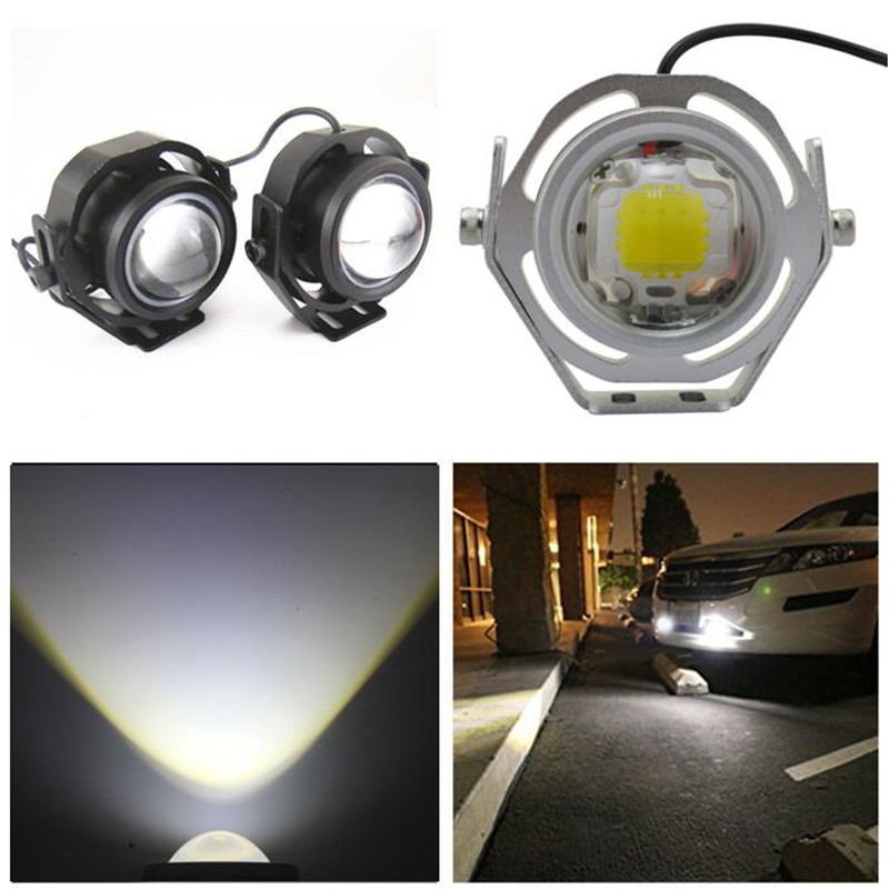 2pcs Waterproof Car DRL LED Eagle Eye Light 10W Cool White Car Fog Daytime Running Light Reverse Backup Parking Lamp 12V 24V  1 pair 2000lm 20w cree chips drl led eagle eye car fog daytime running reverse backup parking light lamp ip67 waterproof