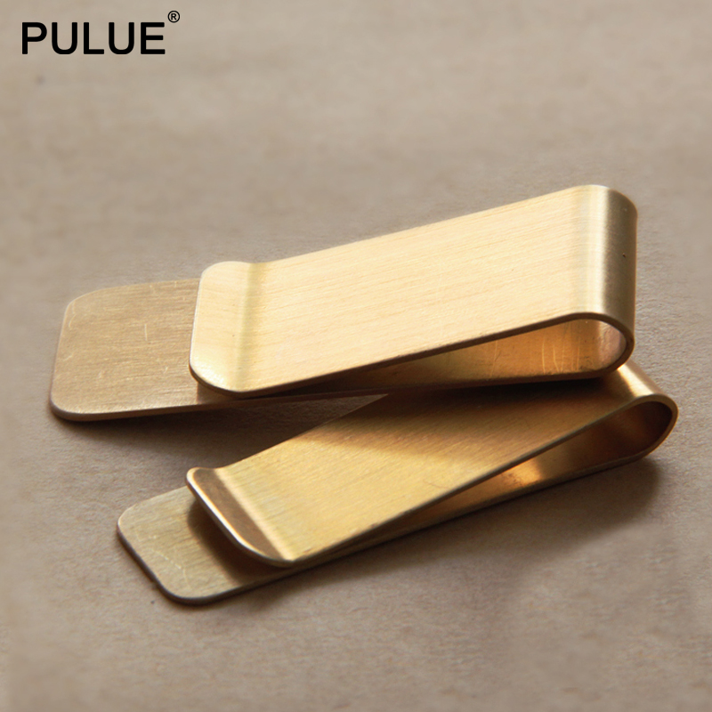 Brass Metal Money Clip Portable Silver Dollar Cash Clamp Holder Stainless Steel Bank Card ID Clip Business Banknote Folder