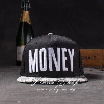 Новые модные мужские и женские повседневные кепки Snapback Swag MONEY Letters 3D Вышивка Хип-Хоп Кепка бейсбольная кепка s Bone Gorras для мужчин и женщин - Цвет: Белый