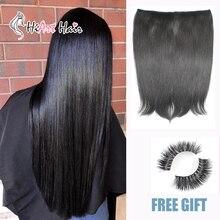 HiArt 100 г Halo волосы для наращивания, прямые волосы для наращивания, натуральные человеческие волосы remy для наращивания, 16 дюймов