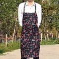 Ajustable Negro y Rojo Chile Camarero Cocinero Cocina Cocinero Delantal Delantal Con Bolsillos Herramienta Avental de Delantal de Poliéster Para Hombre Mujer